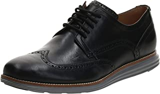 Cole Haan 男式经典超速牛津鞋,黑色皮革-白色,M 码