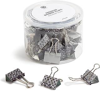 U Brands 时尚活页夹,摩洛哥单色带银色爪子,办公室组织用品,32 毫米,36 支装
