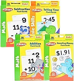 Playskool 1st Grade Math Flash Cards 带贴纸 - 4 件装
