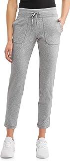 中灰色混色运动休闲针织裤
