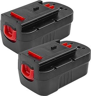2 件装 18V 镍氢电池替换件适用于 Black & Decker HPB18-OPE 244760-00 A1718 FEB180S A18 A18E A18NH FS18FL FS180BX FS18BX Firestorm 18 伏户外...