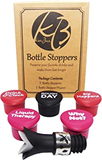 趣味可重复使用的硅胶瓶盖塞 + 礼品瓶塞/倒瓶,适用于*、啤*和其他饮料瓶、饮料节省饮料