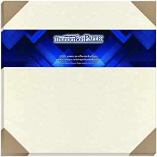 25 白色羊皮纸 65 磅封面重量纸 30.48 厘米 X 30.48 厘米(30.48 厘米 X 30.48 厘米)剪贴簿专辑|封面尺寸 - 可印制的老羊皮纸