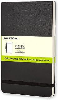 Moleskine Reporter系列-笔记本 大, 精装 空白 黑色封皮