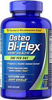 Osteo Bi-Flex 氨基葡萄糖胺含维生素 D,每天一次由 Osteo Bi-Flex,关节健康 ,130 片涂层片剂,130 粒