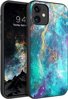 BENTOBEN CampCompatible iPhone 12 Mini Case (2020),超薄贴合薄发光在黑暗中防震混合硬质 PC 软 TPU 缓冲保护女孩女士保护套适用于 iPhone 12 Mini 5.4 英寸,星云/星星设计