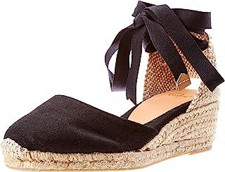 Castañer 女式 Carina/3/001 帆布鞋