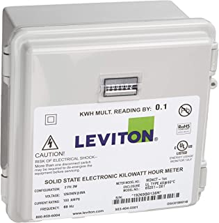 Leviton 户外表面安装机械计数器 120/208/240V 2P3W 100A 带 2 个分芯 CTs 迷你仪表套件 100-Amp MO240-1SW