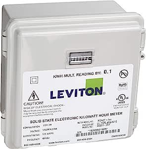 Leviton MO240-1SW 户外表面安装机械计数器 120/208/240V 2P3W 100A 带 2 个实心核心 CTs 迷你仪表套件
