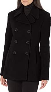 Calvin Klein Petite 女式双排扣粗呢大衣