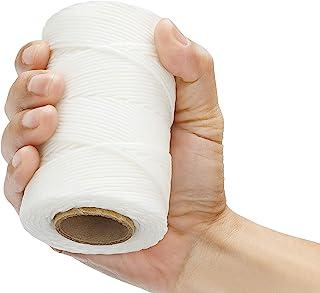 12 层打蜡绳索 97.52 千克 抗拉强度每卷 114.32 米(125 码)  * 涤纶   白色蜡系带绳