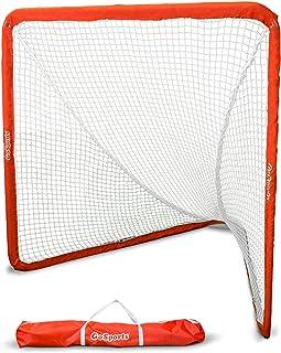 GoSports Regulation 15.24 厘米 x 15.24 厘米长曲棍球网,带钢框 - *真正便携的长曲棍球目标,几分钟后院安装
