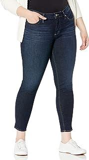 Silver Jeans Co. 女士加大码 Suki 曲线修身中腰紧身牛仔裤