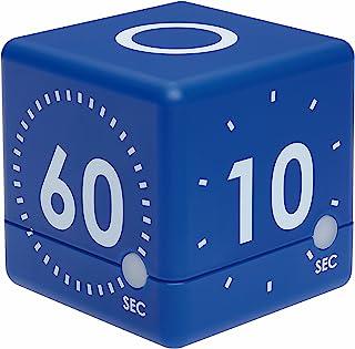 TFA Dostmann 数字立方体定时器,38.2036,非常适合游戏或锻炼,4 个预设运行时间,光学和声学排水信号。