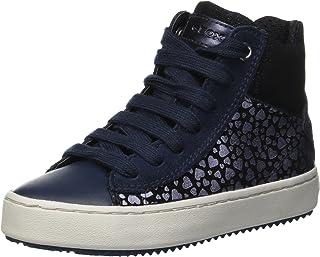 Geox 女孩 J Kalispera 女孩 D 高帮运动鞋