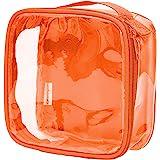 Clear TSA 认可的 3-1-1 旅行洗漱袋/透明透明透明透明透明透明透明透明 橙色 均码