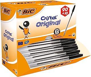 BIC Cristal 原装圆珠笔,黑色,90 + ,10盒