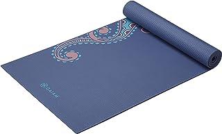 Gaiam 瑜伽垫高级印花超厚防滑锻炼健身垫适用于各种瑜伽、普拉提和地板锻炼,柔软佩斯利花纹,6 毫米