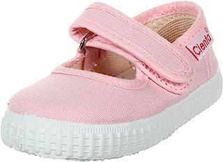 Cienta 儿童 56000 Mary Jane 纯色帆布圈和环形女孩(婴儿/幼儿/小童)