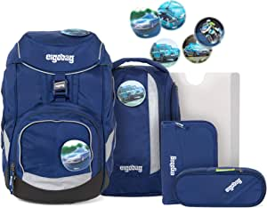 Ergobag 套装,符合人体工程学的书包,6件套,20升,1.100克 Blaulichtbär onesize