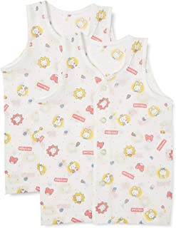 Baby Story 2片装 绉布全身图案 前开口跑步 K57703 日本制造 粉色 80