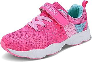 Lingmu 女孩男孩时尚跑鞋儿童透气防滑网球鞋户外运动鞋儿童(幼儿/小童/大童)
