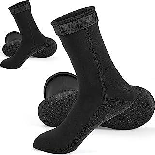 Geyoga 2 双氯丁橡胶潜水袜 3 毫米沙滩水袜,冲浪保暖灵活防滑潜水服靴,适用于游泳漂流、浮潜帆船,男女皆宜