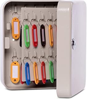 MAUL 壁挂式钥匙柜,40 个钥匙,20 x 16.5 x 8 厘米,灰色