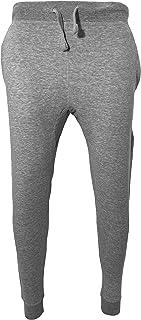 Venley 男式麻灰色修身羊毛慢跑裤