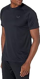 Amazon Brand - Peak Velocity 男式通道针织性能短袖速干运动跑步 T 恤