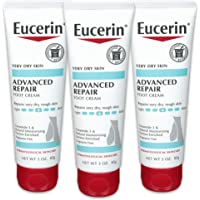 Eucerin Advanced Repair 护足霜-无香料,适用于双脚的乳液,适合非常干燥的皮肤-3盎司(85克…