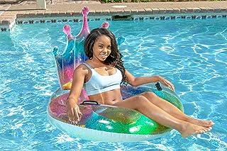 Poolmaster 泳池漂浮彩虹闪光头饰管,多色