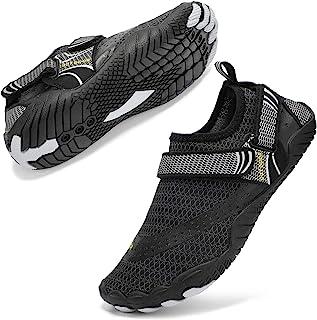 hiitave 男式赤脚水鞋沙滩水袜,速干,适合户外运动徒步游泳冲浪