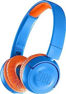 JBL JR300BT 儿童蓝牙耳机 配备音量控制功能/自定义贴纸 蓝色/橘色  JBLJR300BTUNO