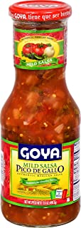 Goya Foods Pico De Gallo Authentic Mexican Home-Style Chunky Salsa, 17.6 Ounce (Pack of 12)
