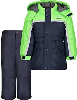 LONDON FOG 男婴滑雪夹克和滑雪裤 2 件套防雪服