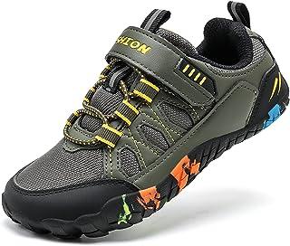 ASHION 男孩女孩极简主义越野跑鞋宽鞋头鞋赤脚交叉训练儿童运动鞋