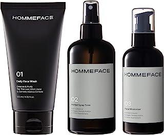 HOMMEFACE 男士每日护肤三件套,三步常规操作