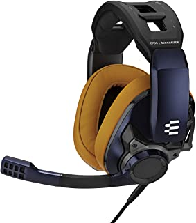 Sennheiser 森海塞尔 游戏耳机 密闭型/降噪麦克风 GSP 602 特别款(耳垫:金属藏青和茶)