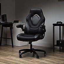 OFM ESS 系列赛车风格游戏椅,高背,黑色