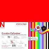 Wausau 创意系列经典专业卡片纸入门套件,30.48 X 30.48 厘米,72 片 (46408-02) 宽松床单…