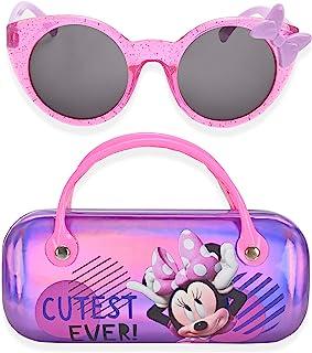 Minnie Mouse 儿童太阳镜女童幼儿太阳镜带儿童眼镜盒, 紫色, 小号
