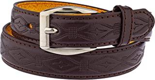 儿童人造皮革双缝 2.54 厘米单爪基础皮带 (93)