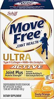 Move Free 益节 II型胶原蛋白,HMB,电解质泡腾片,增强肌肉力量(28粒),支持肌肉锻炼和电解质平衡*,1
