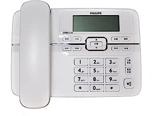 PHILIPS 飞利浦 CORD118 大屏幕 免电池工作来电显示电话机(白色)
