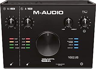 M-Audio AIR 192 | 6 - 2 合 2 - 输出 USB 音频 / MIDI 接口,带 ProTools 和 Ableton Live Recording 软件,带工作室效果和乐器