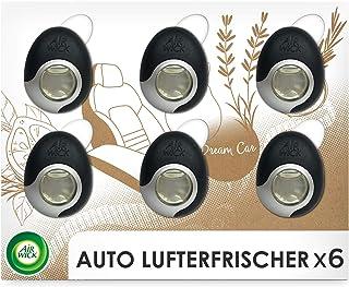 Air Wick 汽车空气清新剂 – 用于汽车防止难闻气味的香味:木材和皮革 – 6 包,可长达240天的香味
