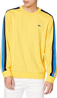 LACOSTE 法国鳄鱼 卫衣 官方 肩部线条圆领运动衫 男士 SH1556L