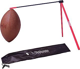 GoSports 橄榄球踢球 T 恤   用于场球门踢球的金属放置支架 - 便携式支架兼容所有尺寸的足球