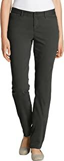 Eddie Bauer 女士 Legend 水洗裤 - Curvy Basic 斜纹棉布裤单色棉质适合身材,有弹性